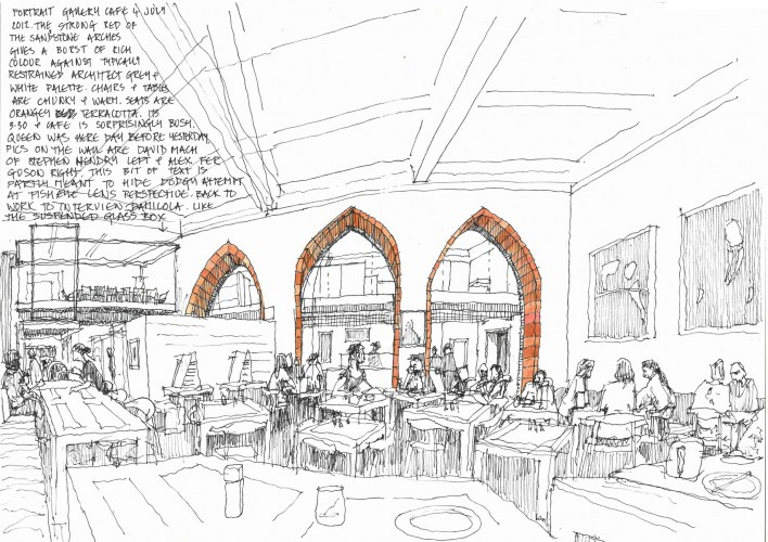 scottish national  portrait gallery, page & park, cafe