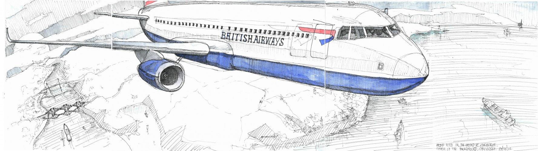 plane at edinburgh airport
