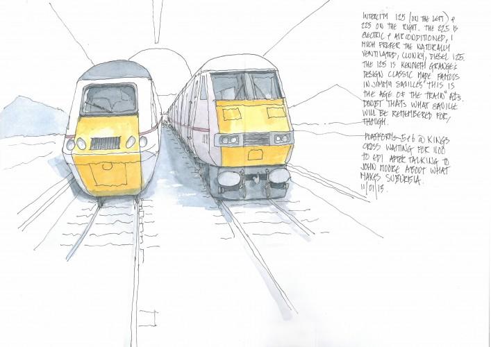 kings cross, intercity 125, intercity 225
