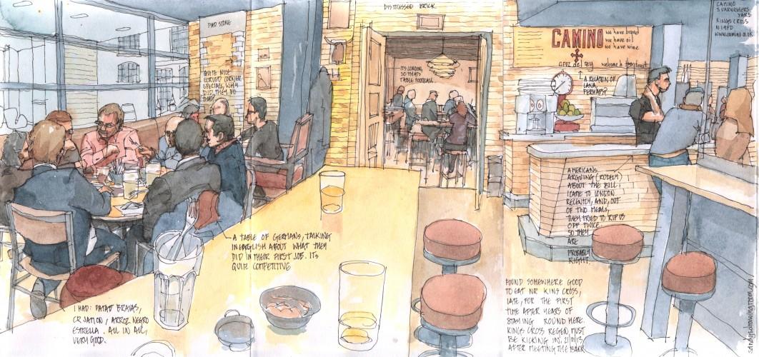 """@CaminoLondon, """"cafe sketch"""", """"London Sketch"""""""