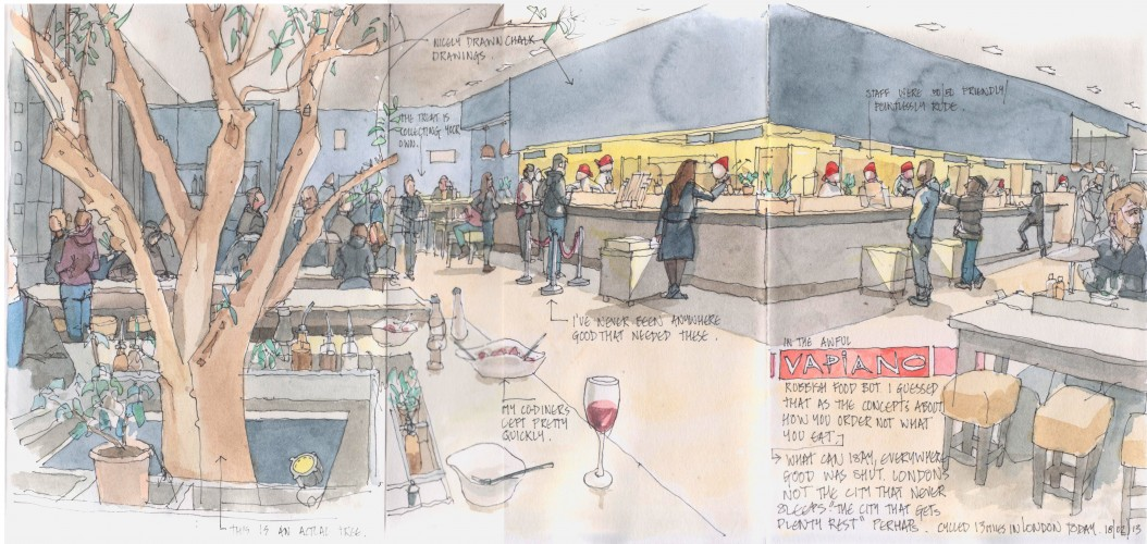 "vapiano, ""cafe sketch"""