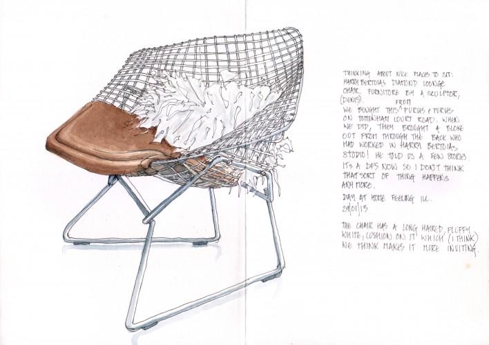 Bertoia Diamond Lounge Chair 13-01-29