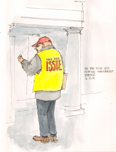 Big Issue Seller - 16 October 2014