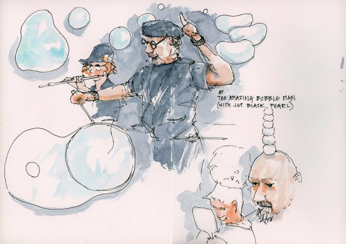 bubble man - 11 August 2016